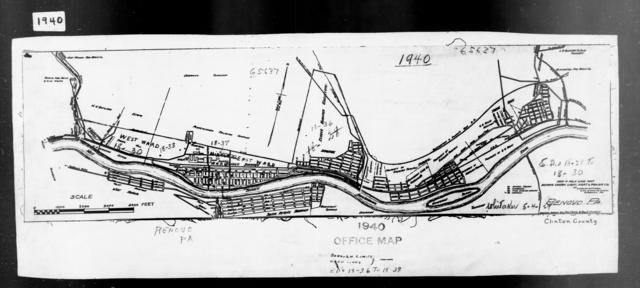 1940 Census Enumeration District Maps - Pennsylvania - Clinton County - Renovo - ED 18-36, ED 18-37, ED 18-38