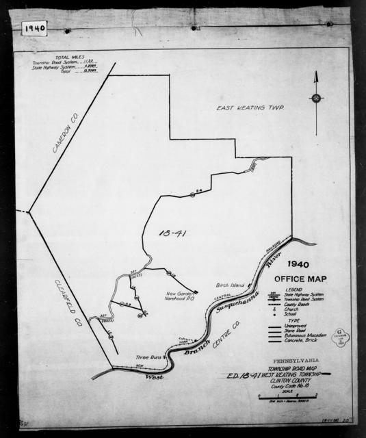 1940 Census Enumeration District Maps - Pennsylvania - Clinton County - West Keating - ED 18-41