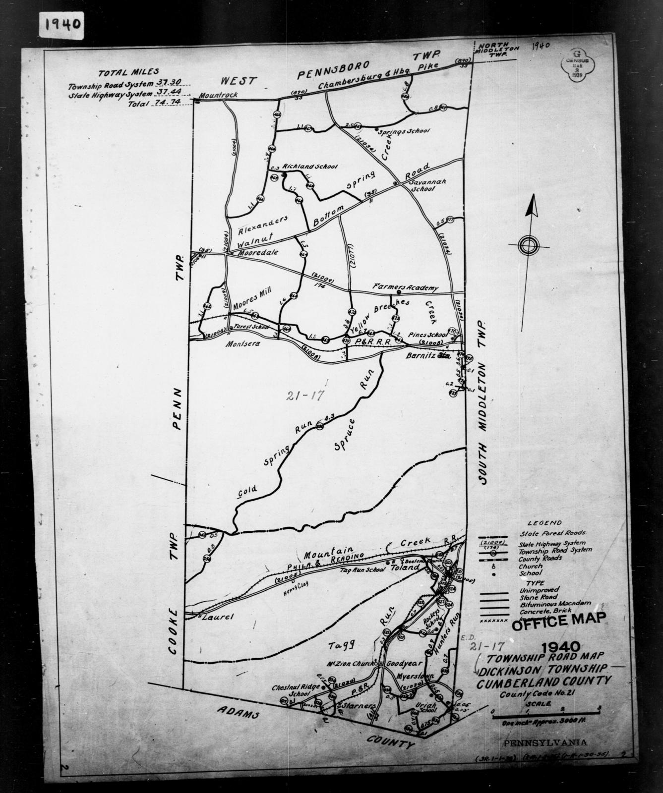 1940 Census Enumeration District Maps - Pennsylvania - berland ... on