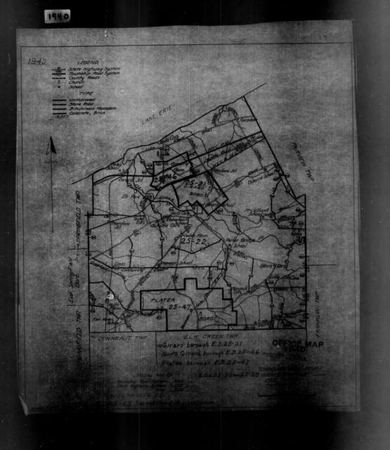 1940 Census Enumeration District Maps - Pennsylvania - Erie County - Girard - ED 25-21, ED 25-23