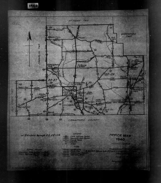 1940 Census Enumeration District Maps - Pennsylvania - Erie County - Washington - ED 25-56, ED 25-57