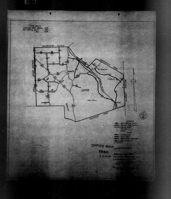 1940 Census Enumeration District Maps - Pennsylvania - Lackawanna County - Covington - ED 35-39