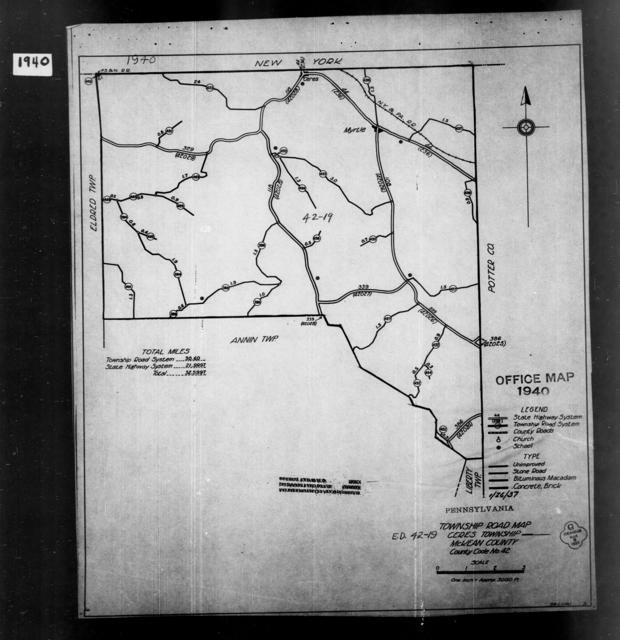 1940 Census Enumeration District Maps - Pennsylvania - McKean County - Ceres - ED 42-19