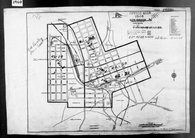 1940 Census Enumeration District Maps - Pennsylvania - McKean County - Kane - ED 42-28, ED 42-29, ED 42-30, ED 42-31, ED 42-32