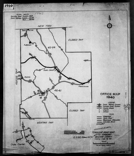 1940 Census Enumeration District Maps - Pennsylvania - McKean County - Otto - ED 42-40, ED 42-41