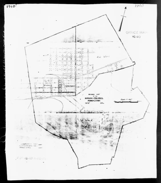 1940 Census Enumeration District Maps - Pennsylvania - Northampton County - Pen Argyl - ED 48-113, ED 48-114, ED 48-115, ED 48-116
