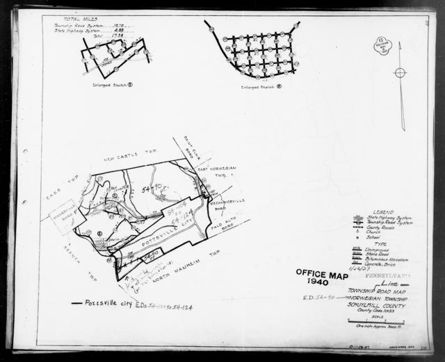 1940 Census Enumeration District Maps - Pennsylvania - Schuylkill County - Norwegian - ED 54-90