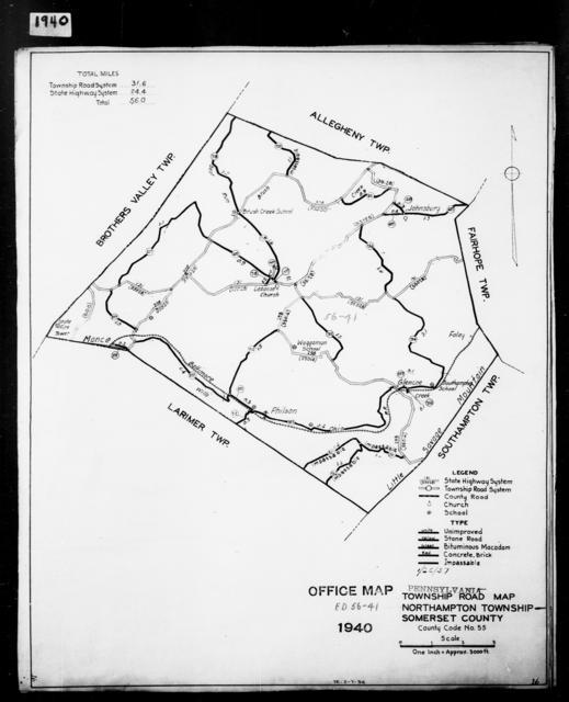 1940 Census Enumeration District Maps - Pennsylvania - Somerset County - Northampton - ED 56-41