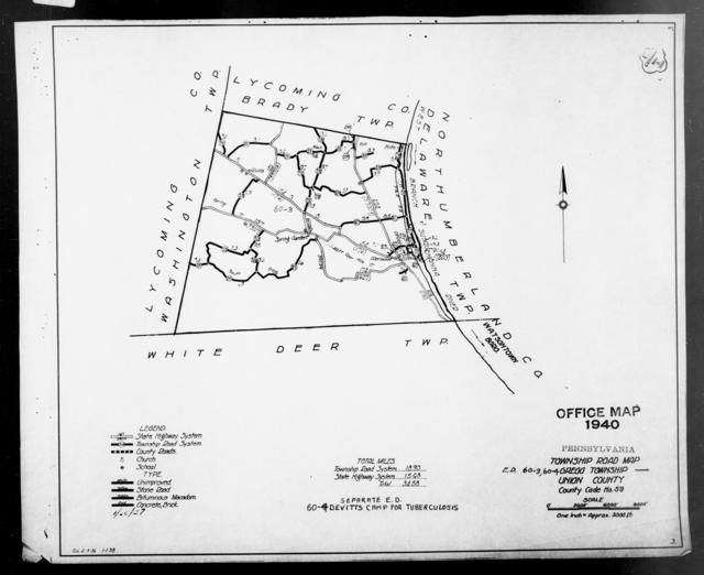 1940 Census Enumeration District Maps - Pennsylvania - Union County - Gregg - ED 60-3, ED 60-4