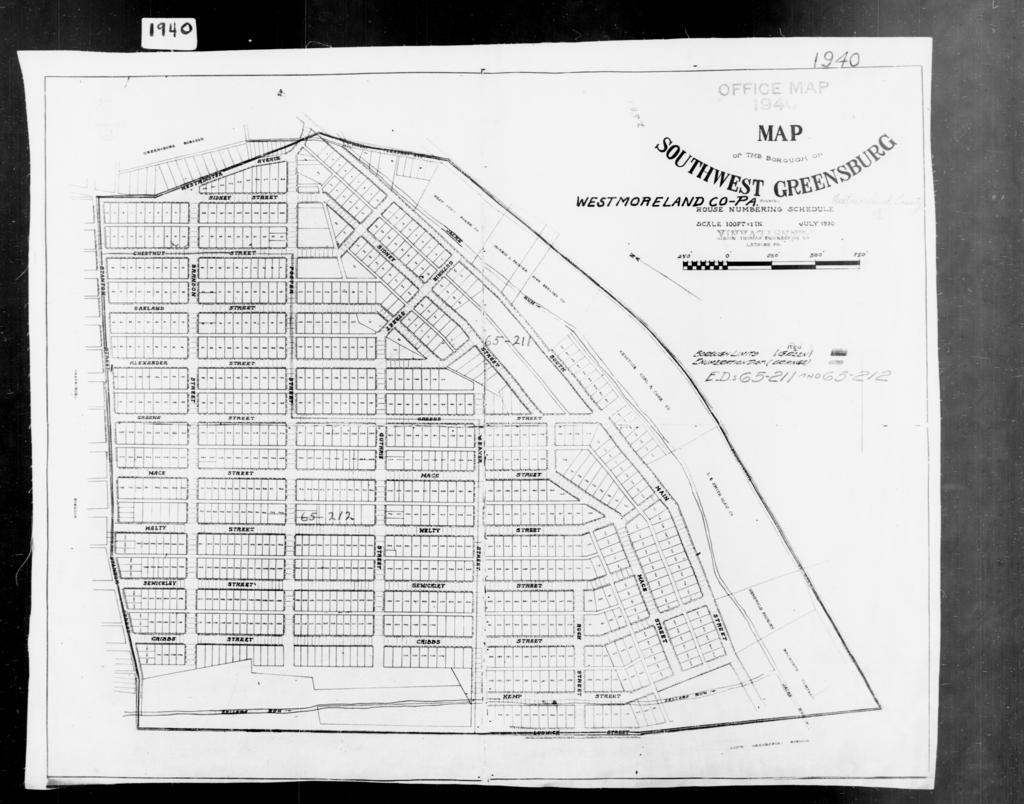 1940 Census Enumeration District Maps - Pennsylvania