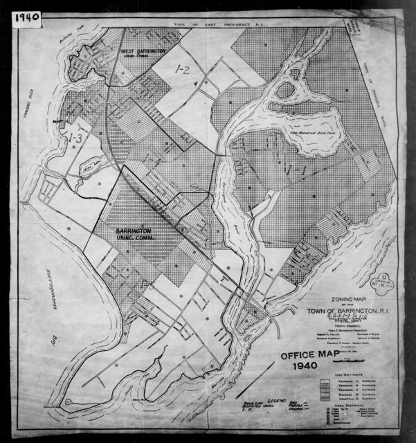 1940 Census Enumeration District Maps - Rhode Island - Bristol County - Barrington - ED 1-1, ED 1-2, ED 1-3, ED 1-4, ED 1-5
