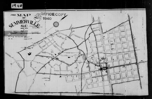 1940 Census Enumeration District Maps - South Carolina - Dorchester County - Summerville - ED 18-6, ED 18-7