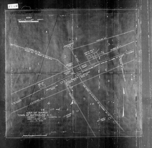 1940 Census Enumeration District Maps - South Carolina - Lexington County - Batesburg - ED 32-9, ED 32-10