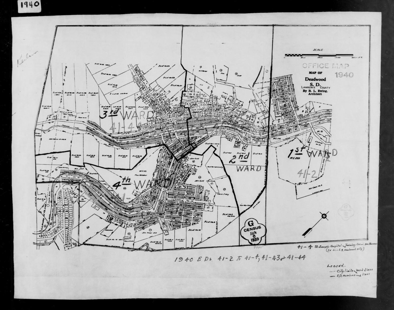 1940 Census Enumeration District Maps - South Dakota ... on deadwood lake idaho map, western idaho road map, kooskia id map,