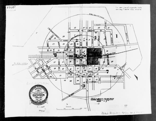 1940 Census Enumeration District Maps - Tennessee - Dickson County - Dickson - ED 22-5, ED 22-6