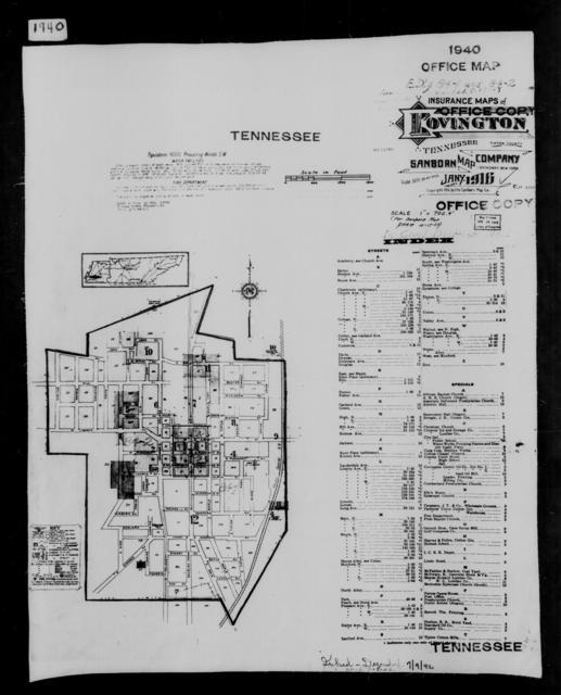 1940 Census Enumeration District Maps - Tennessee - Tipton County - Covington - ED 84-1, ED 84-2