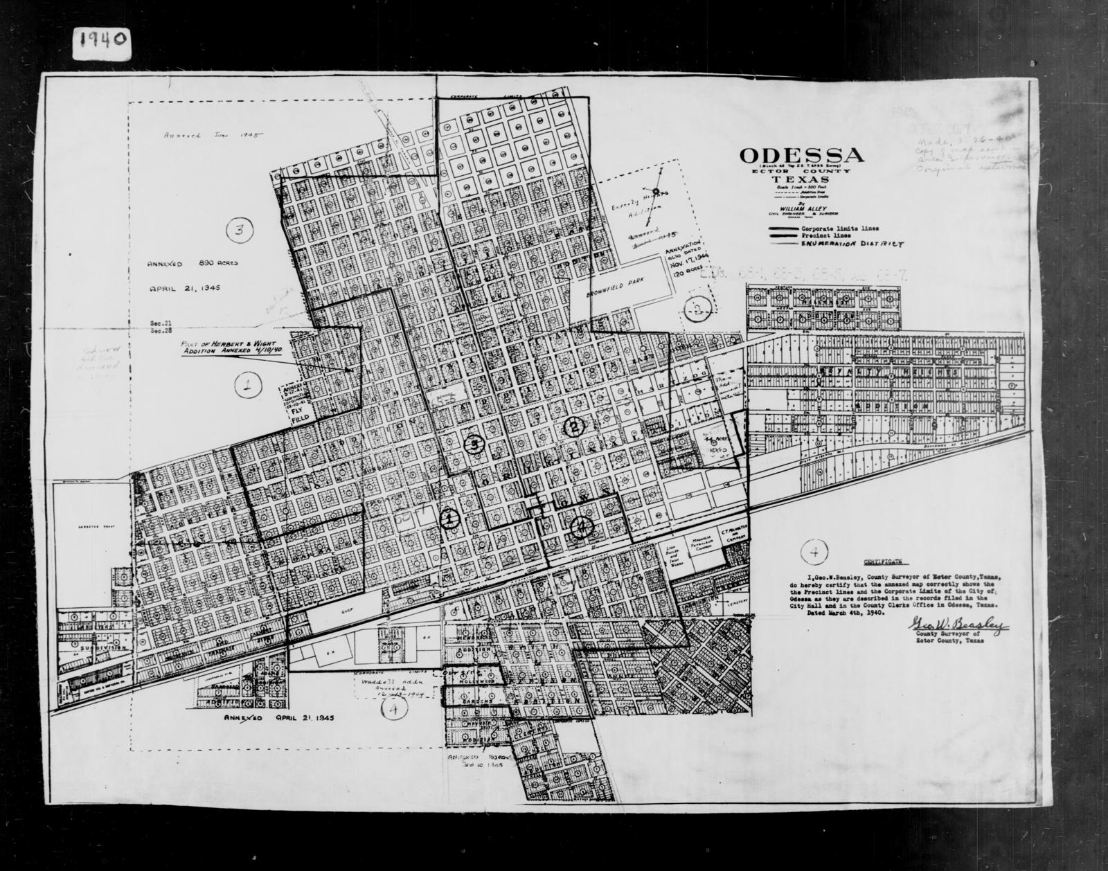 1940 Census Enumeration District Maps - Texas - Ector County ... on mayor of texas, dental society of texas, 18th district of texas, 30th district of texas, 4th congressional district texas,