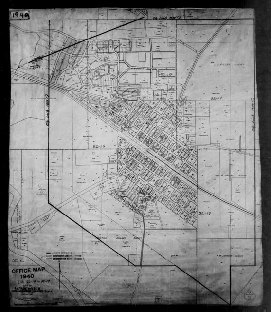 1940 Census Enumeration District Maps - Texas - Gregg County - Gladewater - ED 92-14, ED 92-15, ED 92-16, ED 92-17
