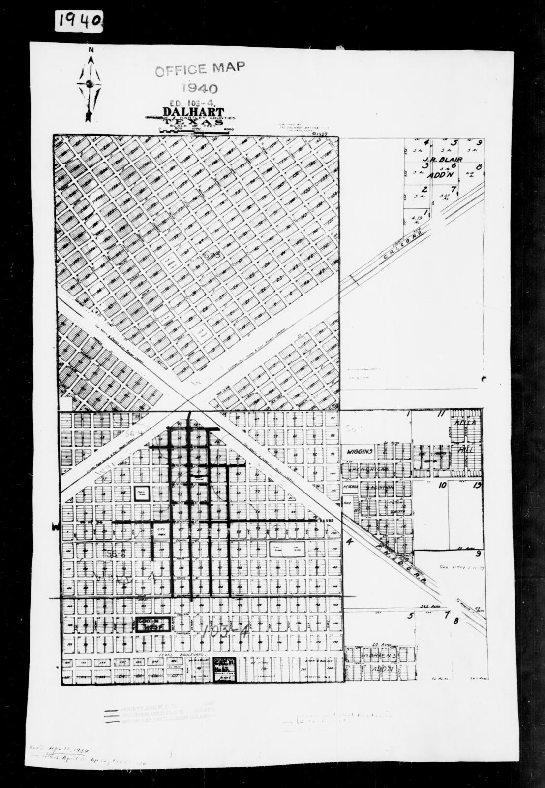 1940 Census Enumeration District Maps - Texas - Hartley County ... on