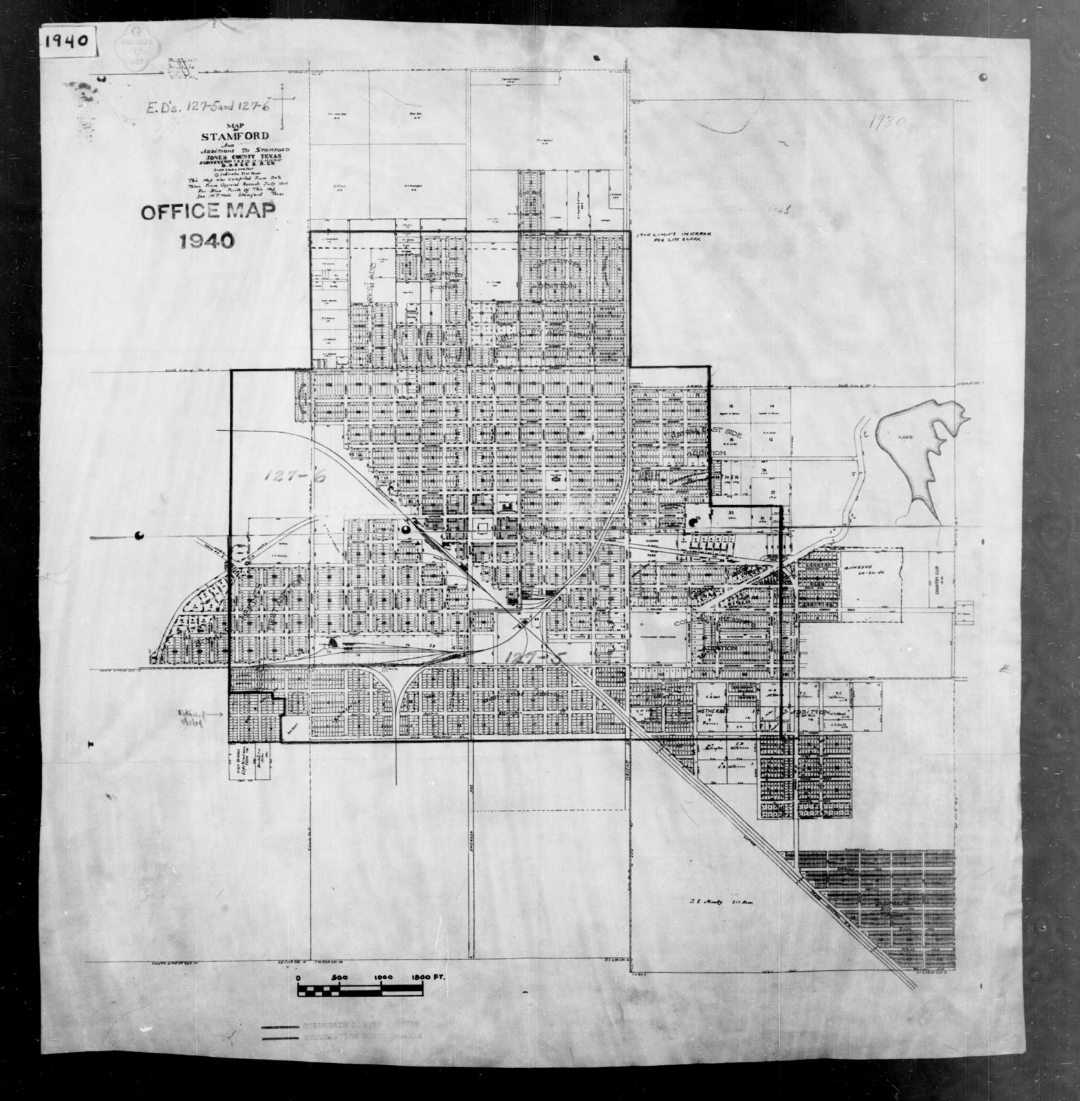 Map Of Texas District 6.1940 Census Enumeration District Maps Texas Jones County