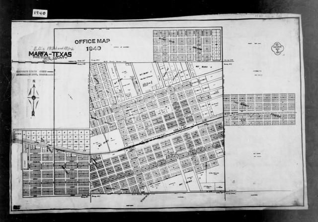 1940 Census Enumeration District Maps - Texas - Presidio County - Marfa - ED 189-1A, ED 189-1B, ED 189-1C, ED 189-2A, ED 189-2B