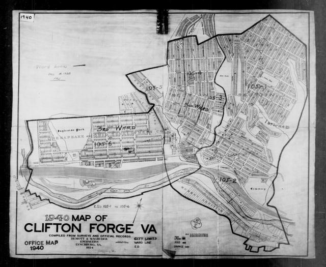 1940 Census Enumeration District Maps - Virginia - Alleghany County - Clifton Forge