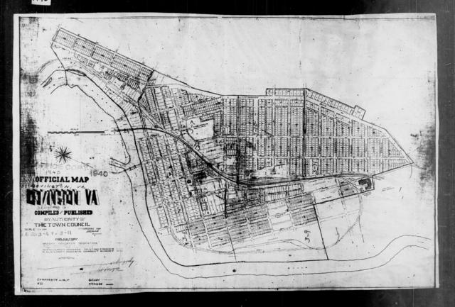 1940 Census Enumeration District Maps - Virginia - Alleghany County - Covington - ED 3-6, ED 3-7, ED 3-8, ED 3-9, ED 3-10, ED 3-11