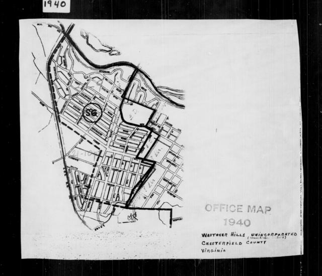 1940 Census Enumeration District Maps - Virginia - Chesterfield County - Westover Hills - ED 21-9, ED 21-10