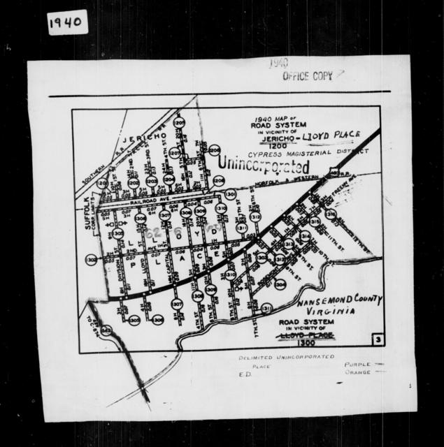 1940 Census Enumeration District Maps - Virginia - Nansemond County - Jericho-Lloyd Place - ED 62-6