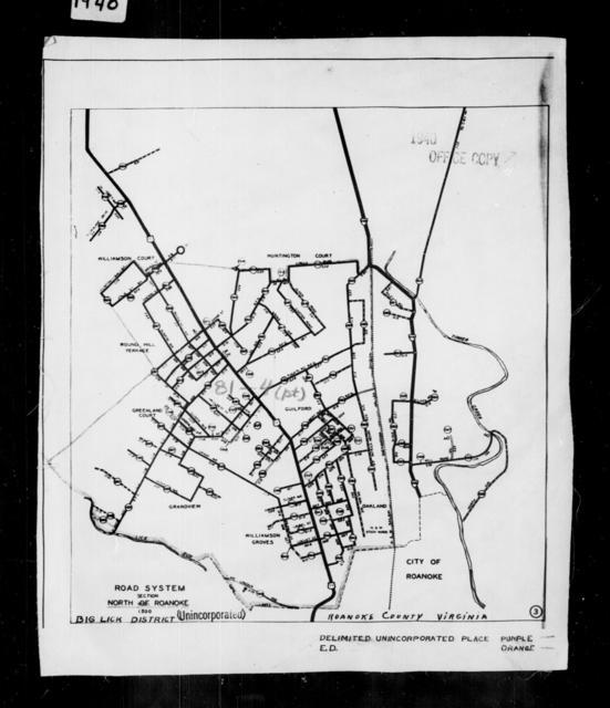 1940 Census Enumeration District Maps - Virginia - Roanoke County - North Roanoke - ED 81-4A, ED 81-4B, ED 81-4E, ED 81-4F