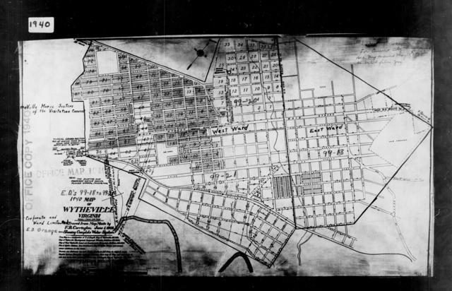 1940 Census Enumeration District Maps - Virginia - Wythe County - Wytheville - ED 99-18, ED 99-19, ED 99-20, ED 99-21