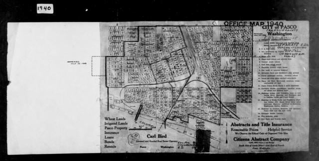 1940 Census Enumeration District Maps - Washington - Franklin County - Pasco - ED 11-8, ED 11-9, ED 11-10, ED 11-11, ED 11-12, ED 11-13, ED 11-14, ED 11-15
