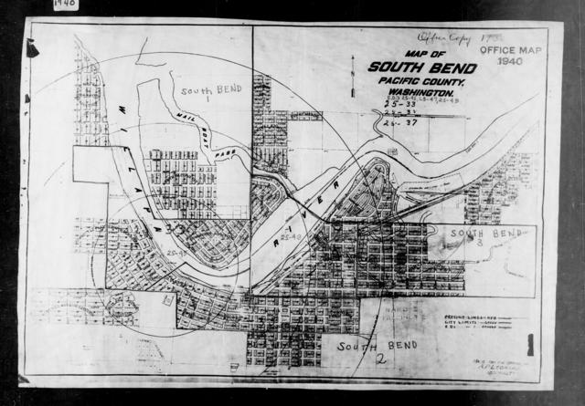 1940 Census Enumeration District Maps - Washington - Pacific County - South Bend - ED 25-45, ED 25-47, ED 25-49