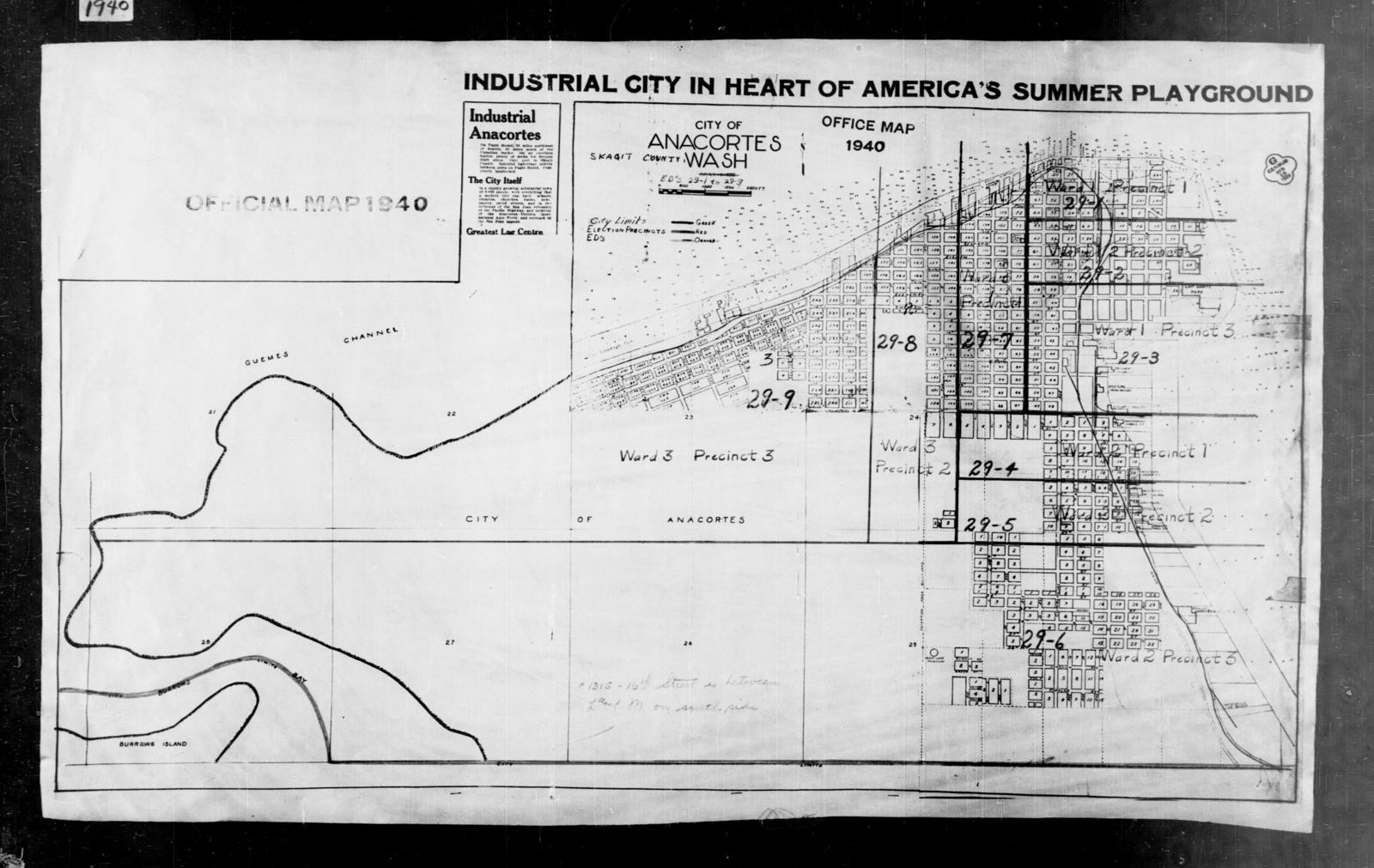 1940 Census Enumeration District Maps - Washington - Skagit County - Anacortes - ED 29-1 - ED 29-9