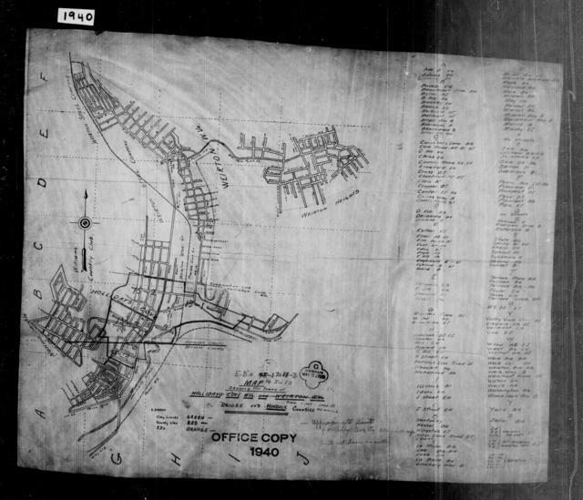 1940 Census Enumeration District Maps - West Virginia - Hancock County - Hollidays Cove - ED 15-1, ED 15-2, ED 15-3
