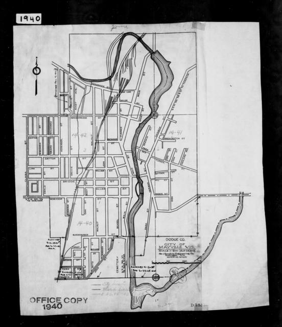 1940 Census Enumeration District Maps - Wisconsin - Dodge County - Mayville - ED 14-40, ED 14-41, ED 14-42