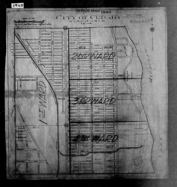 1940 Census Enumeration District Maps - Wisconsin - Milwaukee County - Cudahy - ED 40-1, ED 40-2, ED 40-3, ED 40-4, ED 40-5, ED 40-6, ED 40-7, ED 40-8