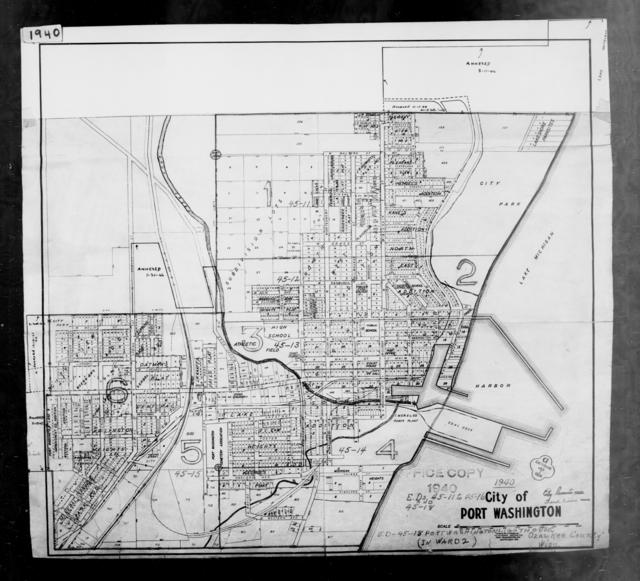 1940 Census Enumeration District Maps - Wisconsin - Ozaukee County - Port Washington - ED 45-11, ED 45-12, ED 45-13, ED 45-14, ED 45-15, ED 45-16, ED 45-17, ED 45-18