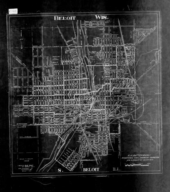 1940 Census Enumeration District Maps - Wisconsin - Rock County - Beloit - ED 53-2 - ED 53-20B