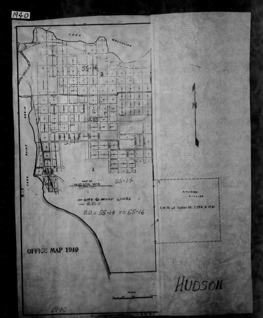 1940 Census Enumeration District Maps - Wisconsin - St. Croix County - Hudson - ED 55-14, ED 55-15, ED 55-16, ED 55-17