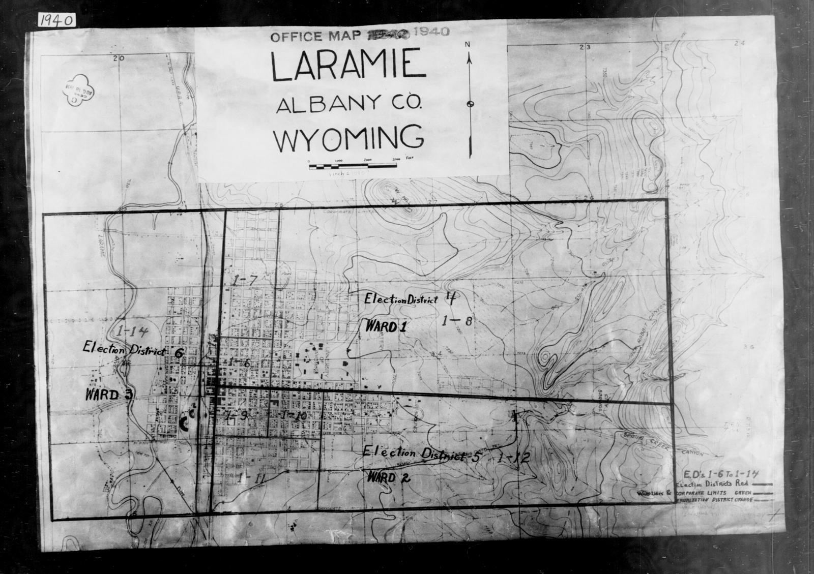 1940 Census Enumeration District Maps - Wyoming - Albany ... on laramie wyoming elevation map, laramie mountains wyoming, casper wyoming map, laramie county wyoming road map, city of laramie wyoming map, fort laramie wyoming map,