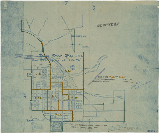 1950 Census Enumeration District Maps - Arizona - Maricopa County - Tempe - ED 7-20 to 25