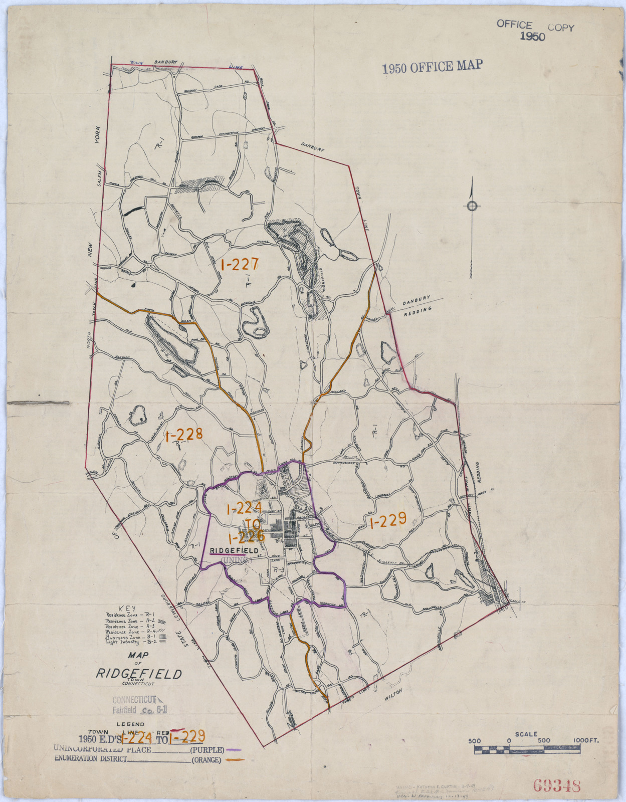 1950 Census Enumeration District Maps - Connecticut (CT) - Fairfield ...
