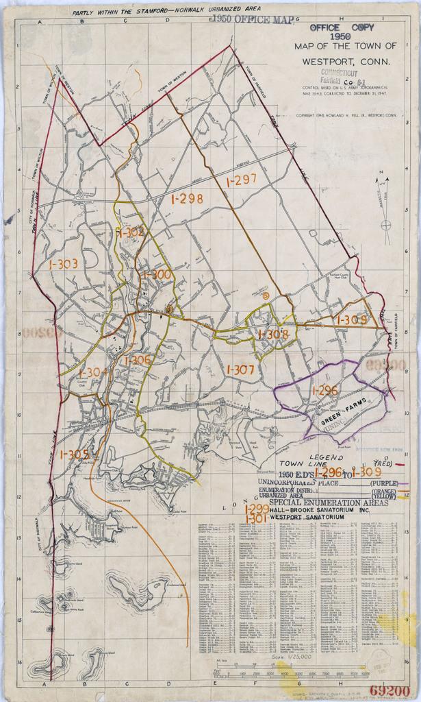 1950 Census Enumeration District Maps - Connecticut (CT) - Fairfield ...