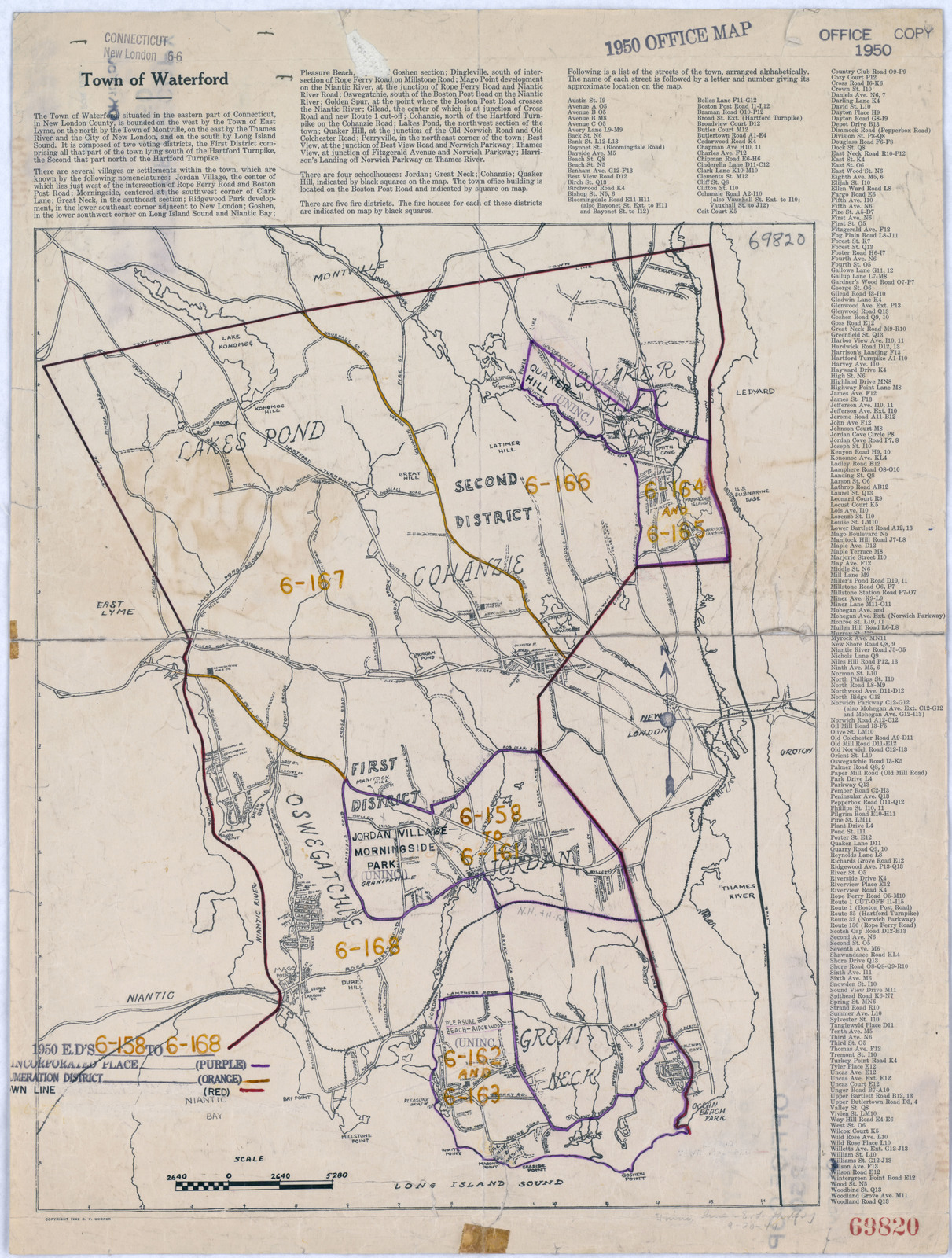 1950 Census Enumeration District Maps - Connecticut (CT) - New ...