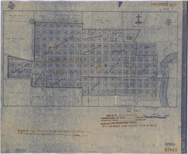 1950 Census Enumeration District Maps - Illinois (IL) - Clinton County - Carlyle - ED 14-9 to 13