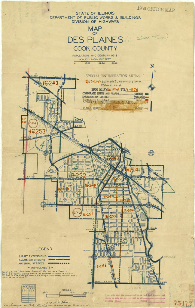 1950 Census Enumeration District Maps - Illinois (IL) - Cook County on
