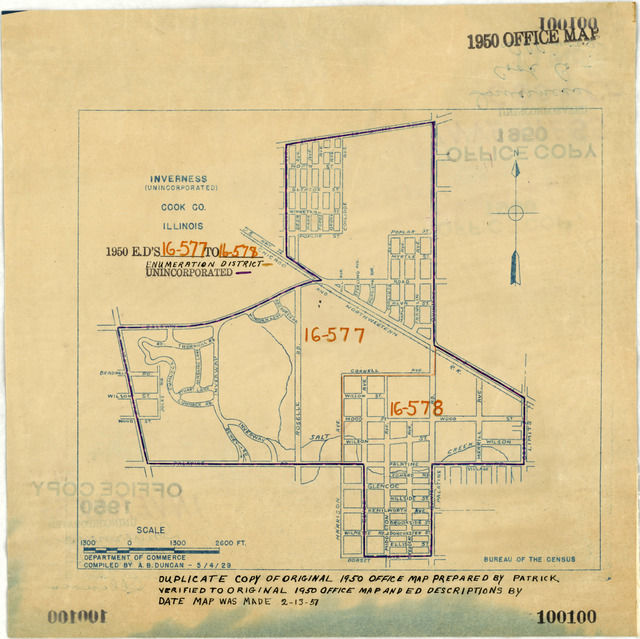 1950 Census Enumeration District Maps - Illinois (IL) - Cook County - Inverness - ED 16-577 to 578