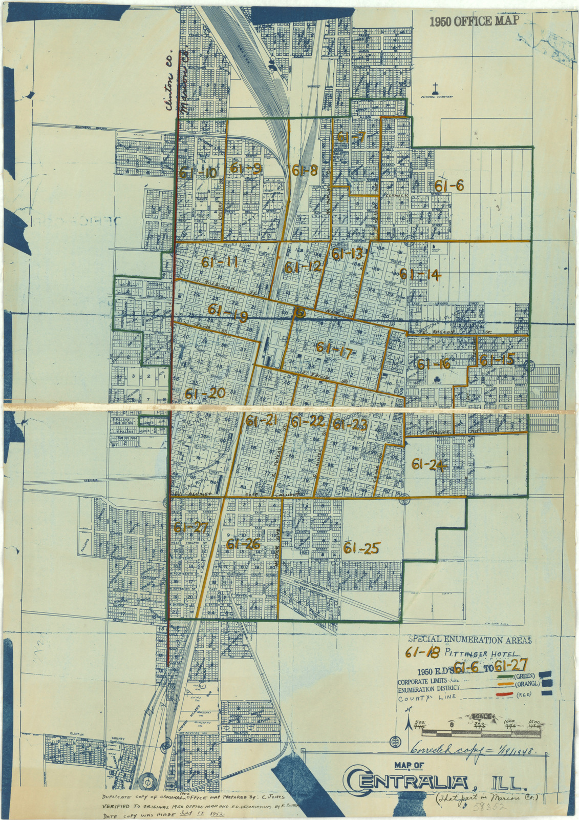 1950 Census Enumeration District Maps - Illinois (IL ... on map of marion ohio, mapquest marion il, marion city il, map of marion indiana, map of central falls ri,