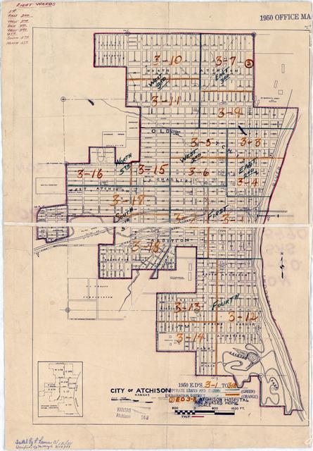 1950 Census Enumeration District Maps - Kansas (KS) - Atchison County - Atchison - ED 3-1 to 18